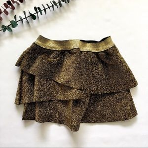 H&M Bottoms - 1-2T  Gold Tinsel Layered Skirt